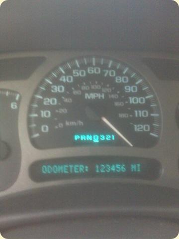 Denali Pickup odometer 4-8-2010